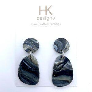 🆕Handcrafted Dark Marble Earrings